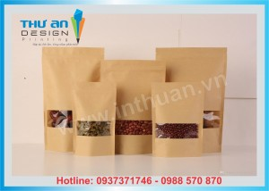 [SẴN KHO SLL] Túi zip giấy kraft đáy đứng giá rẻ nhất Hà Nội