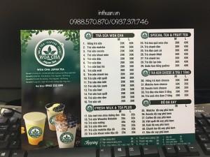 In menu thực đơn giá rẻ Đống Đa