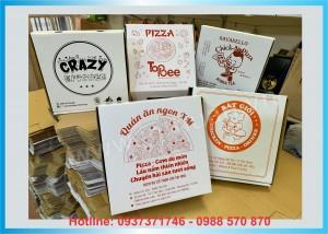 Xưởng in Hộp Pizza Giá Rẻ - Hàng Có Sẵn ở Láng