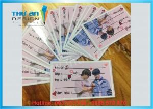Xưởng in nhãn vở cho bé giá tốt tại Thái Hà