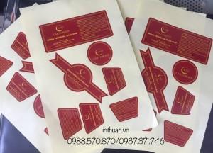 In decal giấy lấy nhanh giá rẻ Huỳnh Thúc Kháng