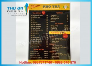 In nhanh menu, giá cực rẻ, in menu lấy ngay mẫu mã đẹp tại Láng