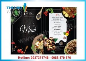 In ấn, thiết kế menu theo yêu cầu tại Hà Nội