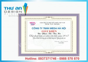 In giấy khen, bằng khen chất lương cao, giá rẻ tại Hà Nội