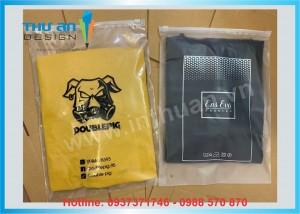 Túi zip lụa mờ khóa kéo có in logo, free thiết kế tại Thành Công