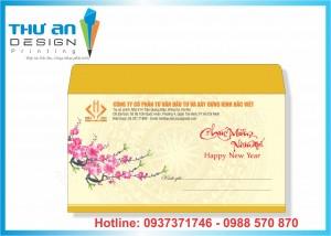 Địa chỉ in phong bì chúc mừng năm mới 2019 rẻ đẹp Hà Nội