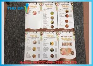 In menu cho nhà hàng, quán ăn, cửa hàng cafe giá rẻ ở Hà Nội