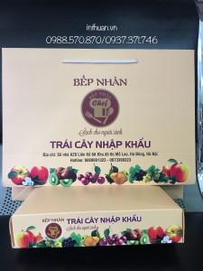 Bộ sản phẩm khay, hộp, túi giấy đựng hoa quả